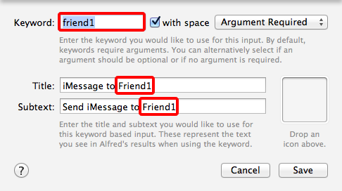 Alfred Workflow: iMessage to Friend – eay cc