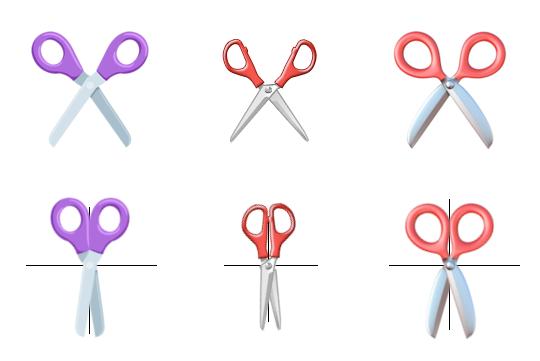 Which emoji scissors close