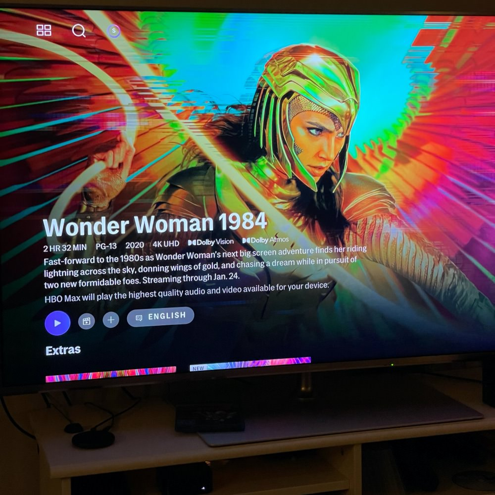 Wonder Woman 1984 auf HBO Max auf einem Apple TV