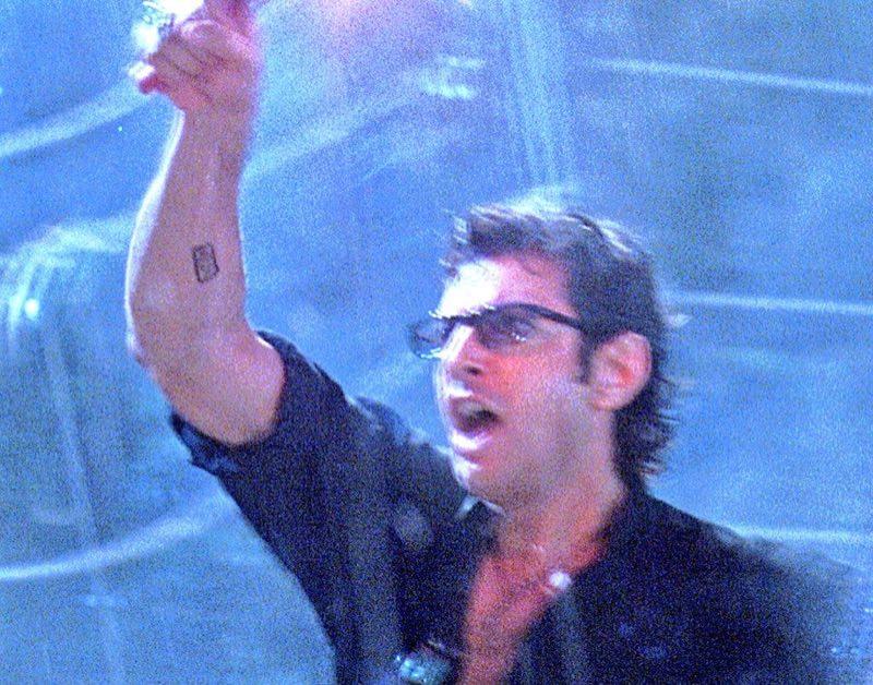 Jeff Goldblum Tattoo in Jurassic Park